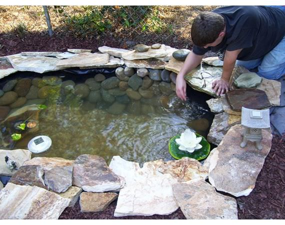 How to build a pond easily cheaply and beautifully the for Building a fountain pond