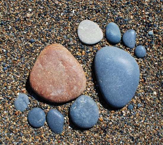 Creative Ways to Use Rocks in the Garden- Rock Feet