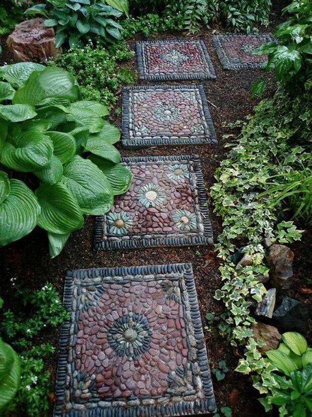 creative artsy garden rocks stones