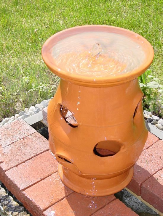 strawberry pot garden water fountain