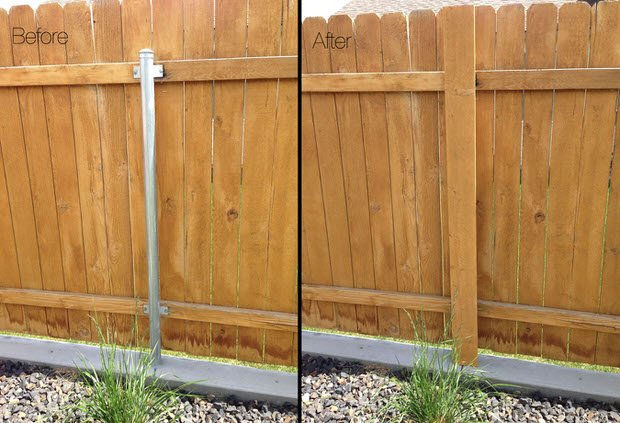 Got Ugly Metal Fence Posts Diy Garden Project Cure The