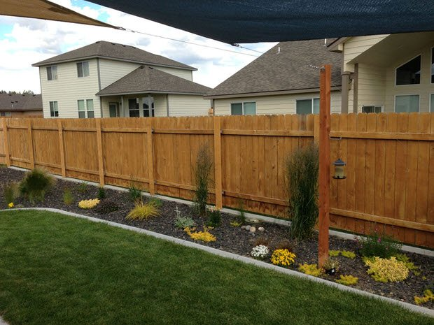 fence post garden project