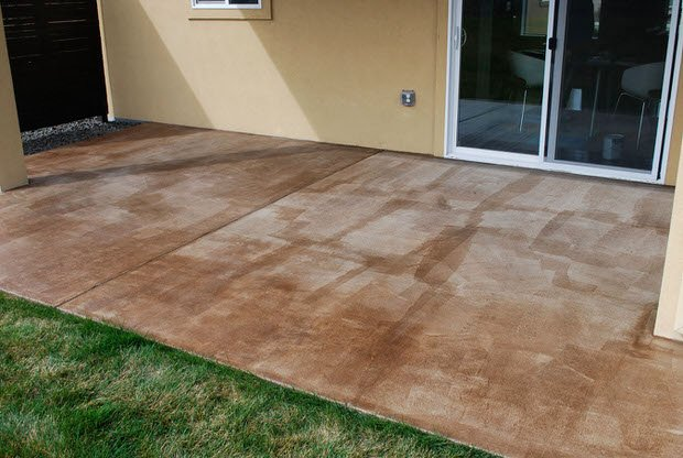 Concrete Stain Patio Diy Project