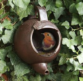 Up-Cycled Bird Houses, Feeders and Baths