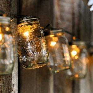 mason jar diy outdoor garden lights project