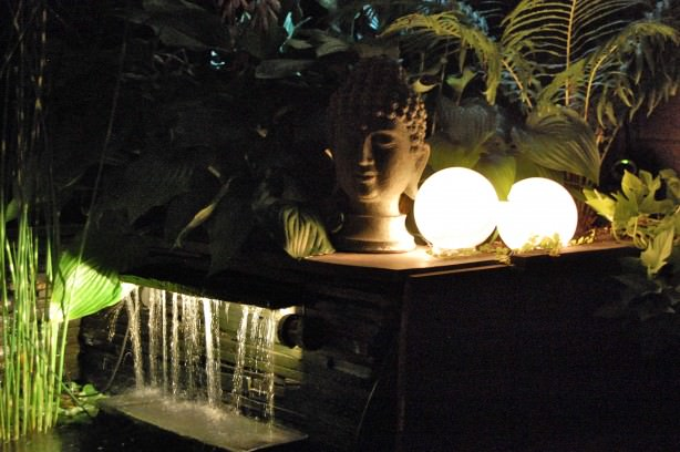 diy outdoor mood lighing