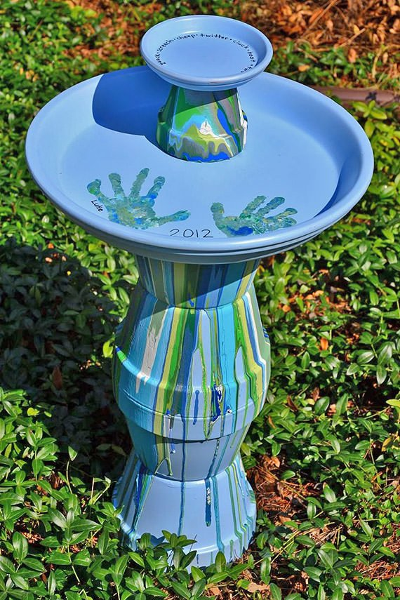 Fall Is For The Birds 7 Diy Bird Baths The Garden Glove