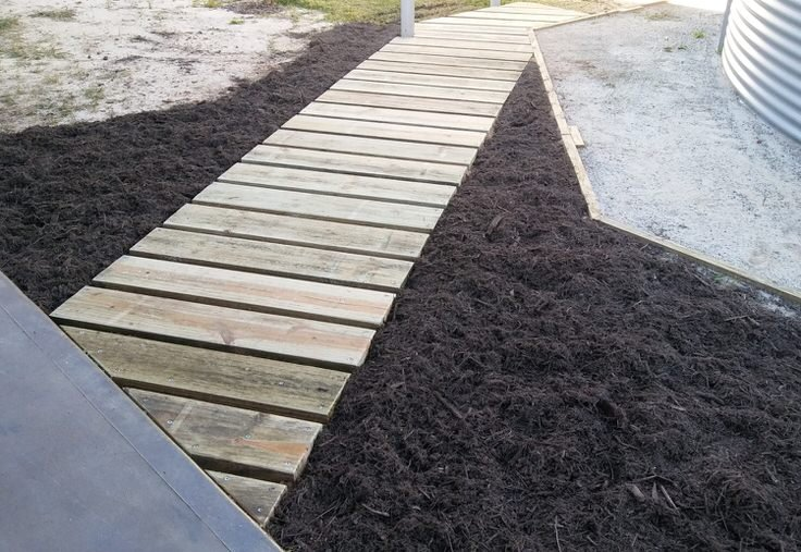 We Love The Minimal Look Of This Garden Walkway Design. These Are Sleeper  Rails Cut Into Sod. Itu0027s These Kind Of Simple Walkway Ideas That Have Stood  Up To ...