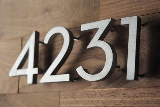 DIY house numbers
