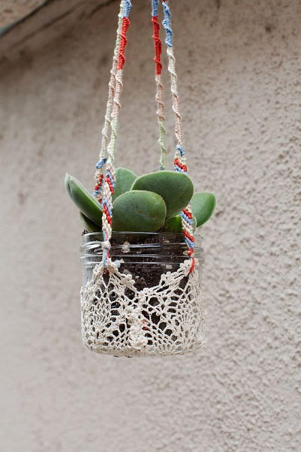 Crochet planter