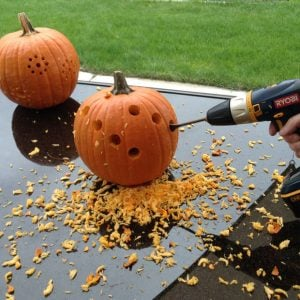 DIY Pumpkin Carving With A Drill