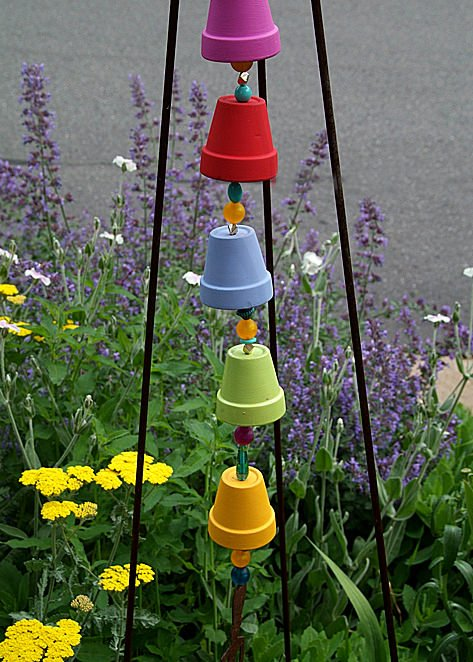 Pot wind chimes