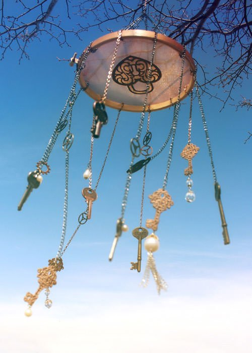 Steampunk wind chimes