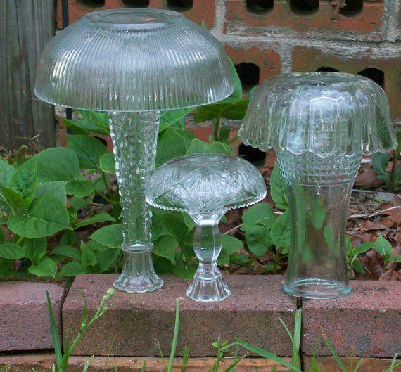 Garden junk mushrooms