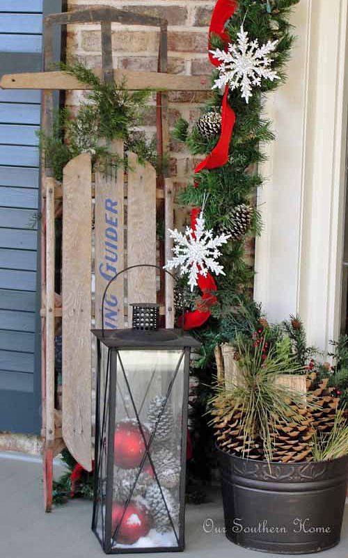 diy outdoor christmas decorating