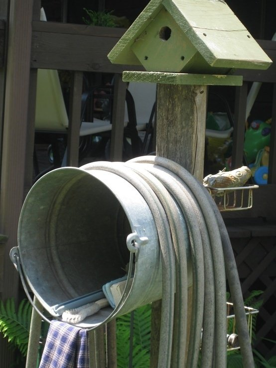 DIY Garden Hose Storage | The Garden Glove
