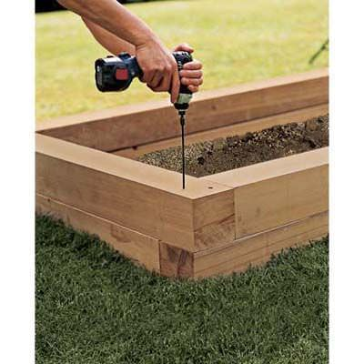 Diy raised garden beds the garden glove for Making raised garden beds