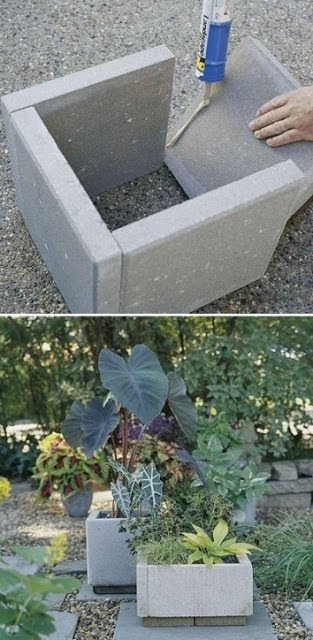 Stone Landscape Projects : Diy concrete garden projects the glove