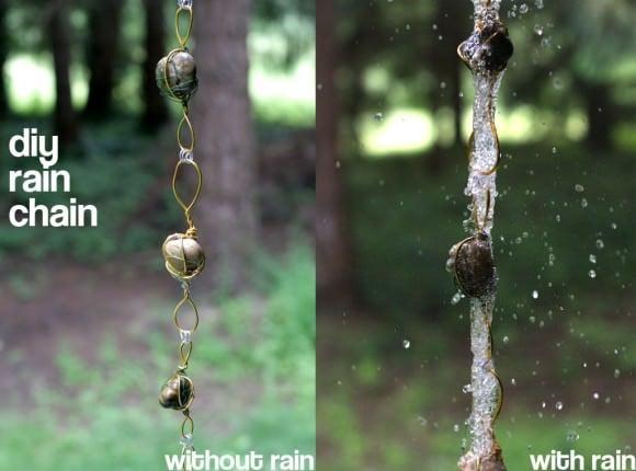 מנגינת גשם - מרזב שרשרת