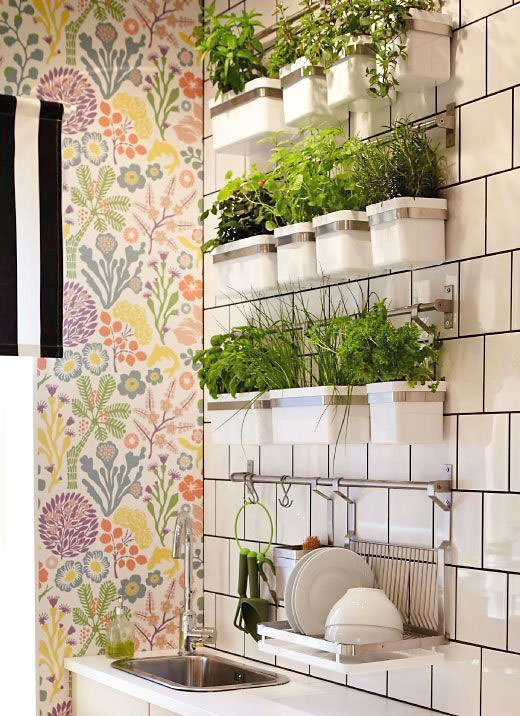 Gentil Use Any Wall Storage System To Create A Planter For An Herb Garden Indoors.  This One Is From U0027Ikeau0027. They Have A Bunch Of Different Styles Of  Containers To ...
