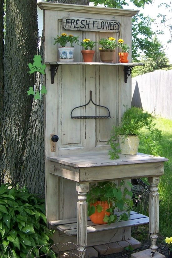 Repurposed Doors : Old Door Ideas for the Garden