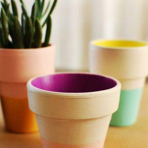 painted planter pots