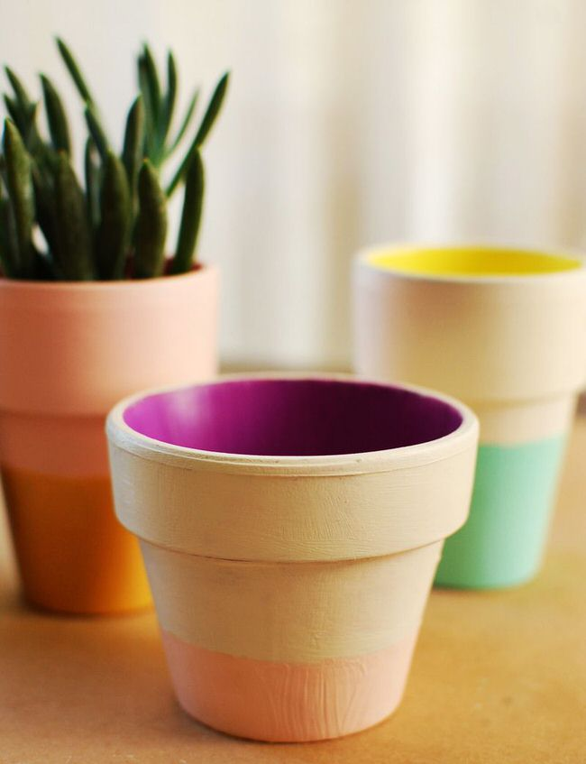 painted planter pots