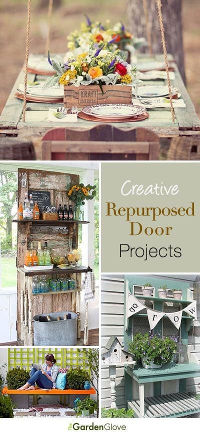 Repurposed Doors Old Door Ideas For The Garden The