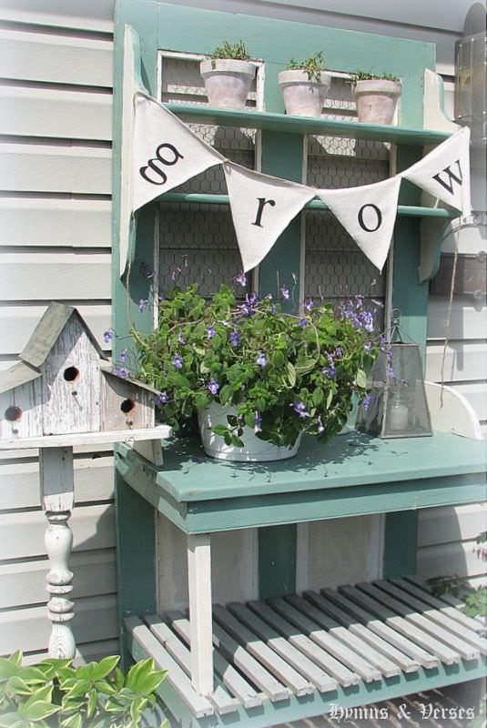 Door potting bench