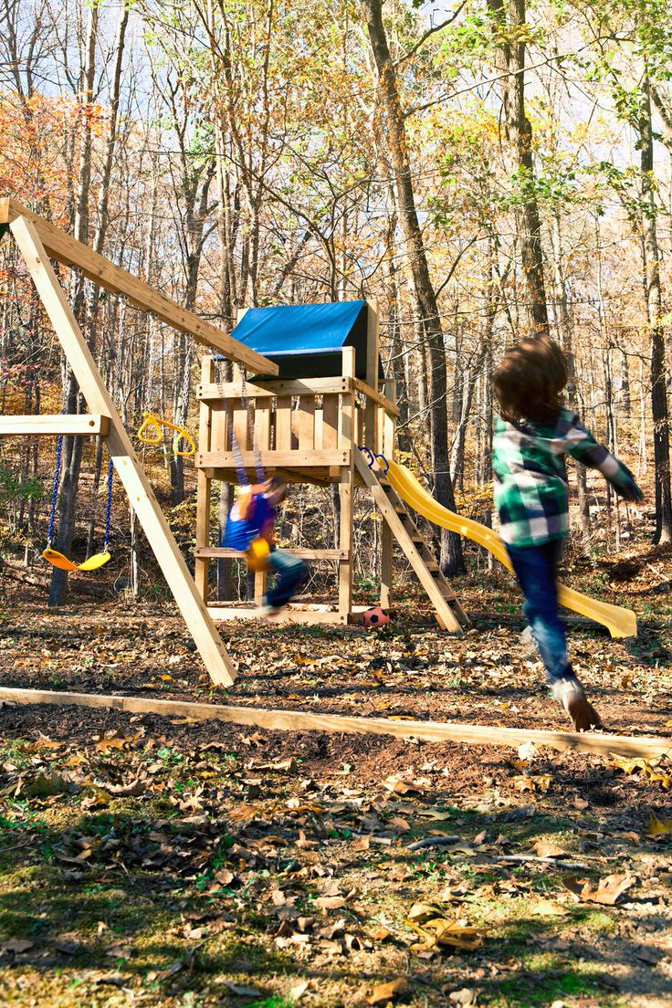10 DIY Kids Outdoor Playset Projects • The Garden Glove