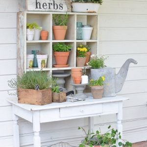Upcycled Potting Bench
