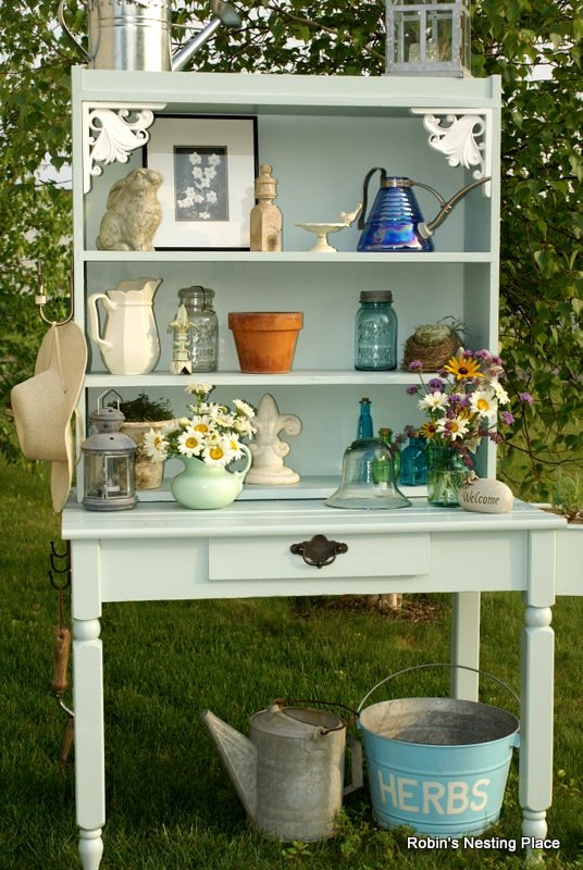 Diy potting benches the garden glove Potting bench ideas