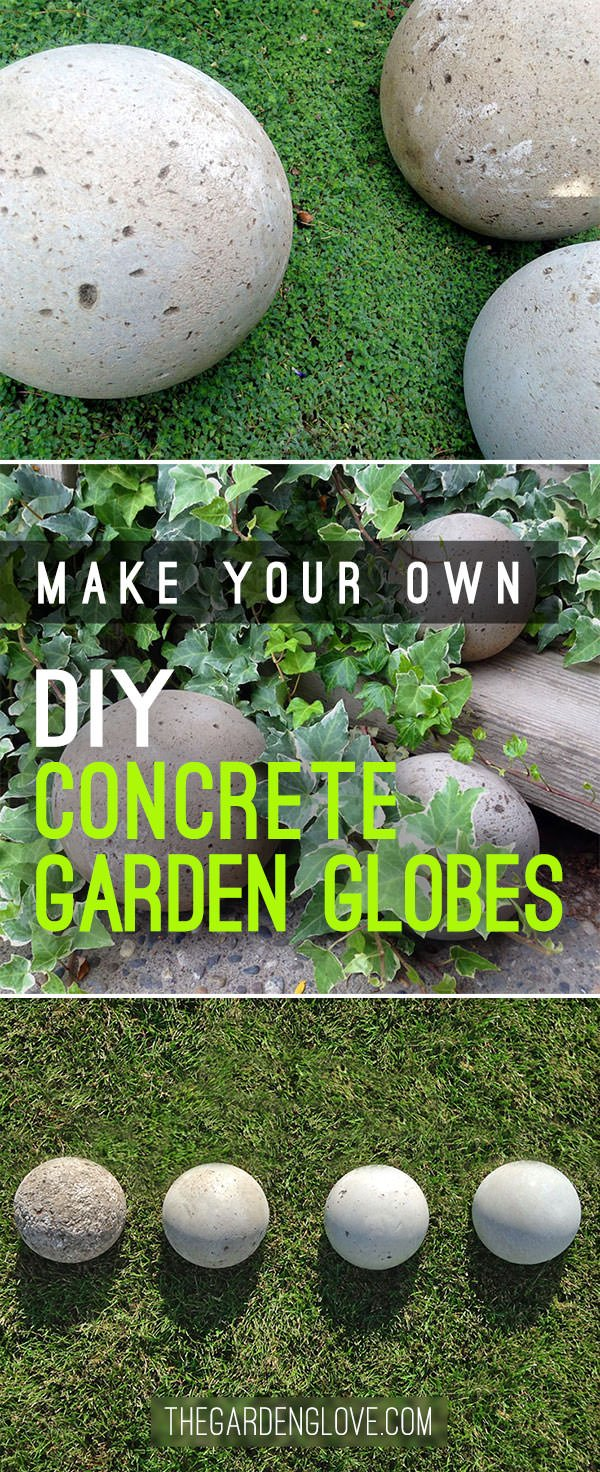 DIY Concrete Garden Globes | The Garden Glove