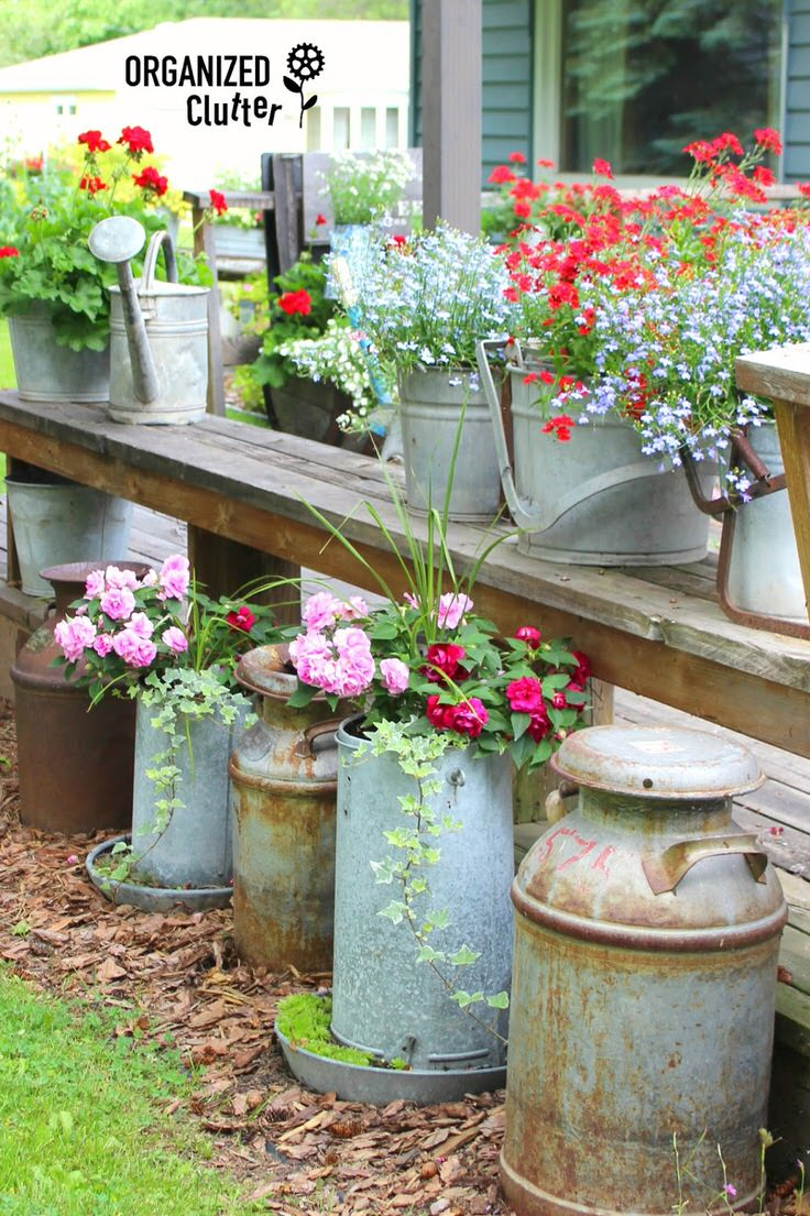 for creative containers balcony garden web ideas