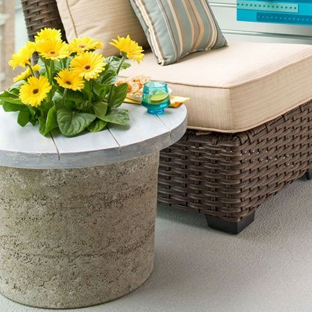 hypertufa planter table