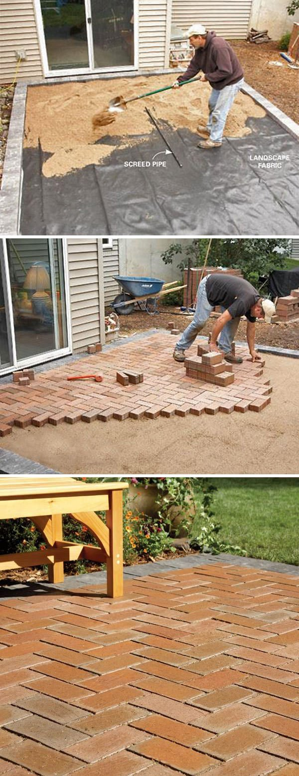 DIY Concrete Patio Cover-Ups