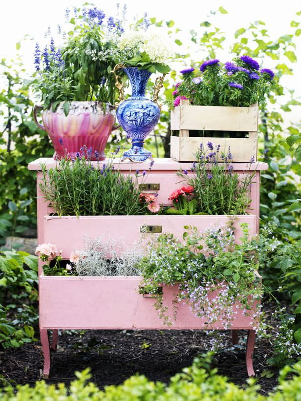 DIY dresser planter