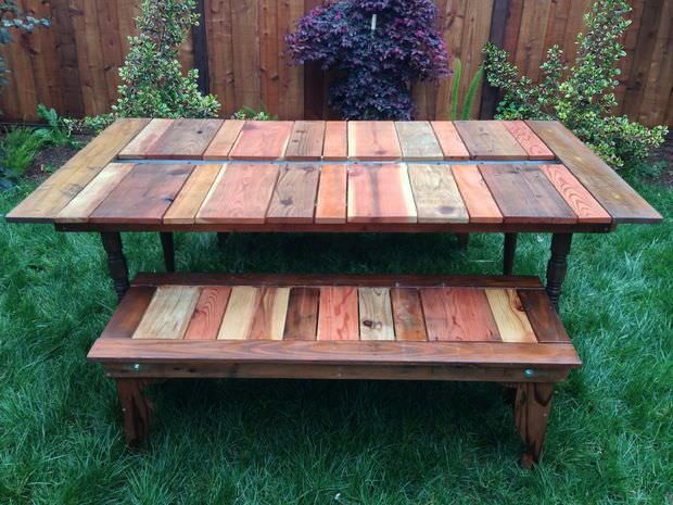 Reclaimed planter table