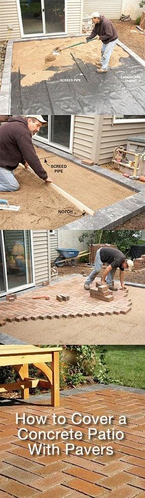 DIY Concrete Patio Cover Ups