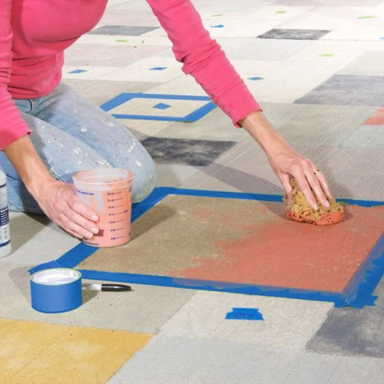 How to Cover a Concrete Patio with Stain
