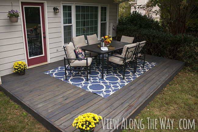 diy concrete patio cover-ups | the garden glove - Ideas To Cover Concrete Patio