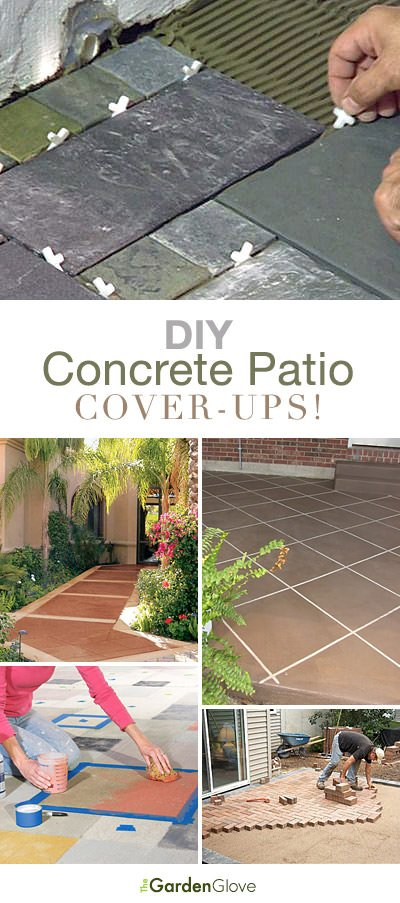 And Am In The Need To Do My Back Patio Soon Because Yes It Is Boring Me Check Out These Diy Concrete Cover Up Ideas