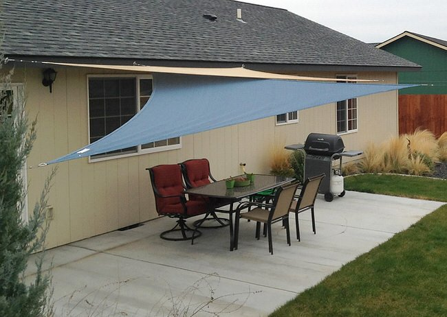 Style And Design Together With Theme Are Usually Excitement You Will Find Some Layouts Inspiration From This Sun Sail Patio Covers Picture Stock