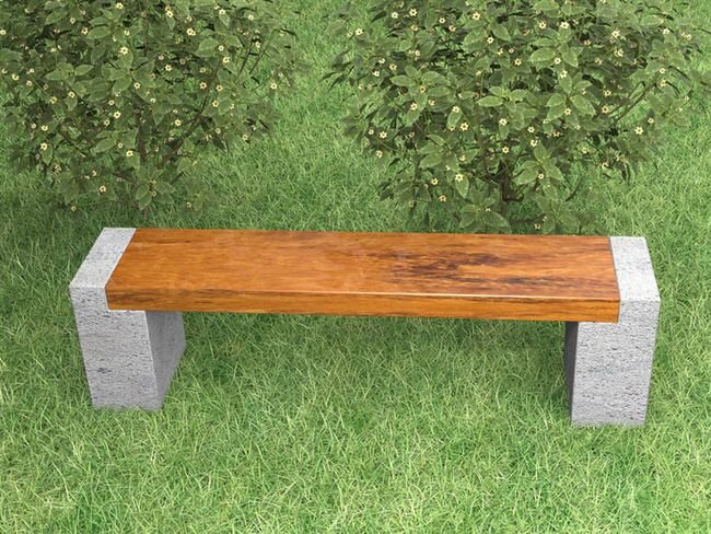 13 awesome outdoor bench projects the garden glove - Bancos de obra para jardin ...