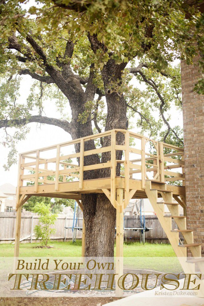 Want to make a treehouse the garden glove for How to build a treehouse step by step