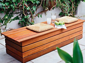 outdoor bench seat design