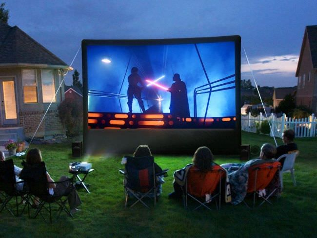 Build A Backyard Movie Theater The Garden Glove