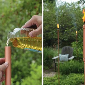 DIY Tiki Torches - Light Your Garden!