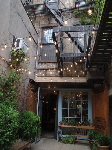 Outdoor String Lights For Restaurants : Outdoor Room Ambience: Globe String Lights! The Garden Glove