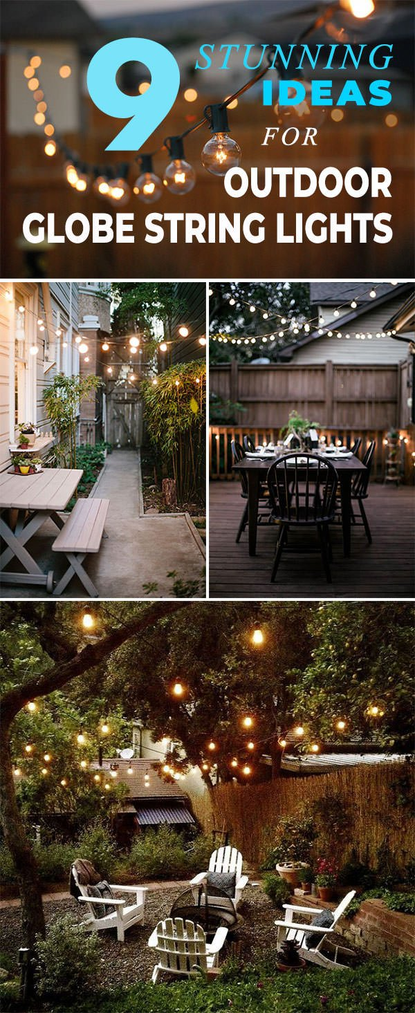 9 stunning ideas for outdoor globe string lights the garden glove or at a cool urban outdoor restaurant or in austin convinced so check out all these outdoor globe string lights ideas and be inspired aloadofball Choice Image